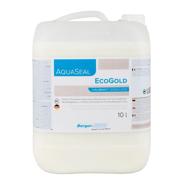 AquaSeal EcoGold 1K Parkettlack halbmatt 10 Liter