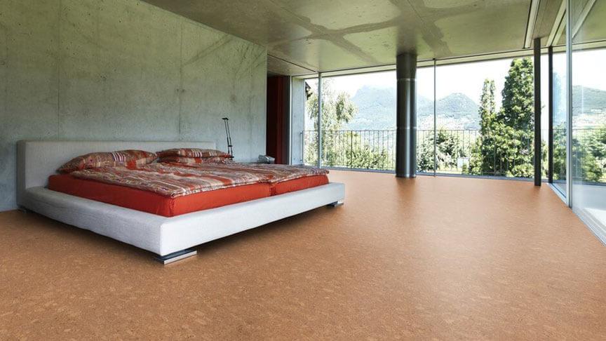 korkboden-im-schlafzimmer