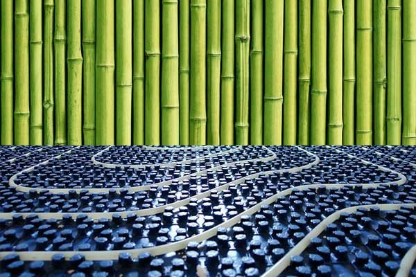 Bambusparkett-Fussbodenheizung