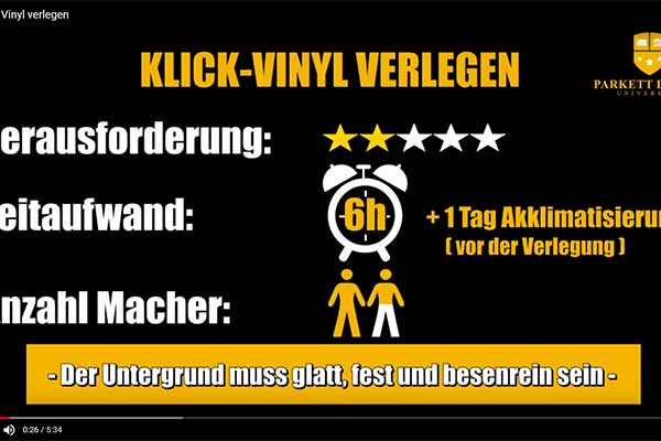 anleitung klick vinyl verlegen video blog. Black Bedroom Furniture Sets. Home Design Ideas
