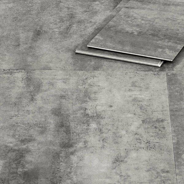 Klickvinylboden grau Beton