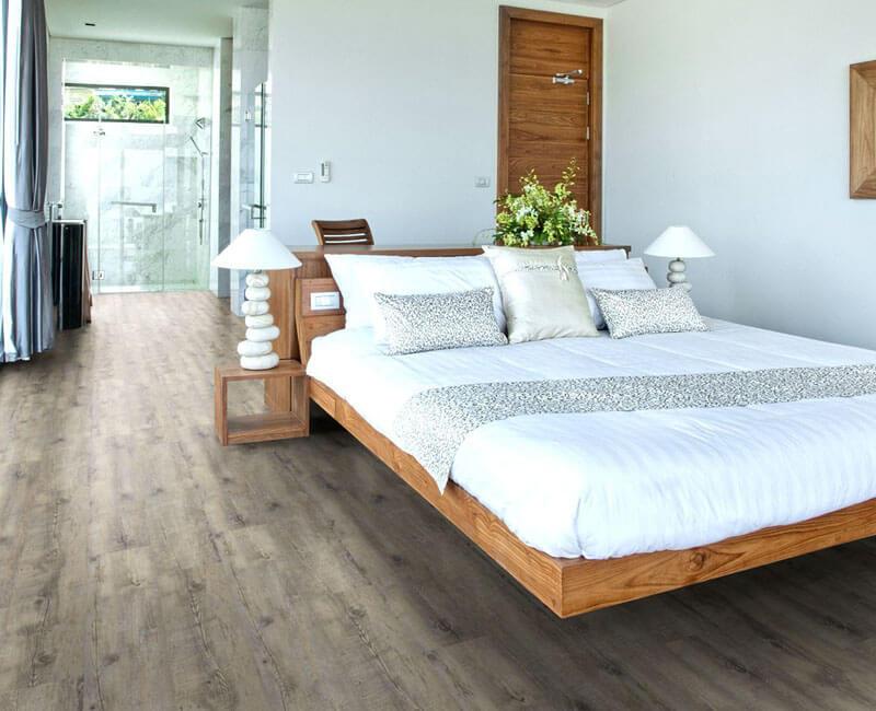 Schlafzimmer mit Vinylboden