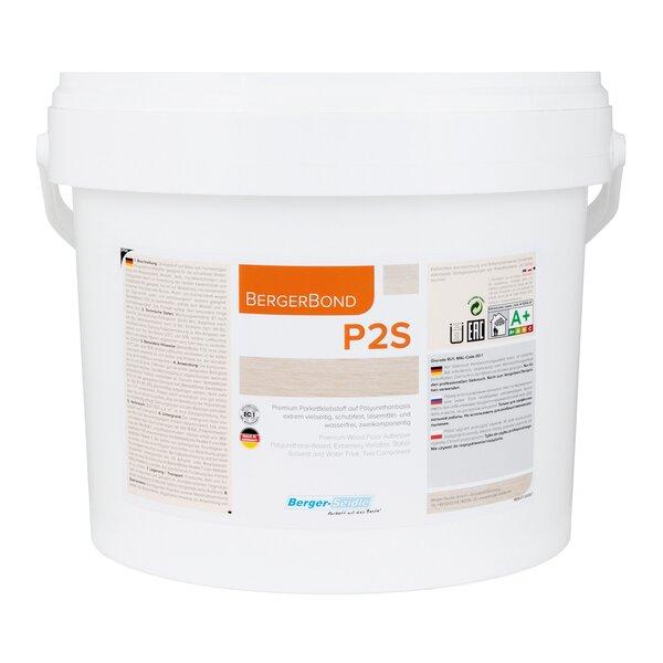 BergerBond P2S Parkettklebstoff 2K für Lam-, Mosaik- und Industrieparkett - 6kg mit Härter